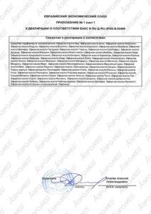 Декларация о соответствии Эфирные масла 2