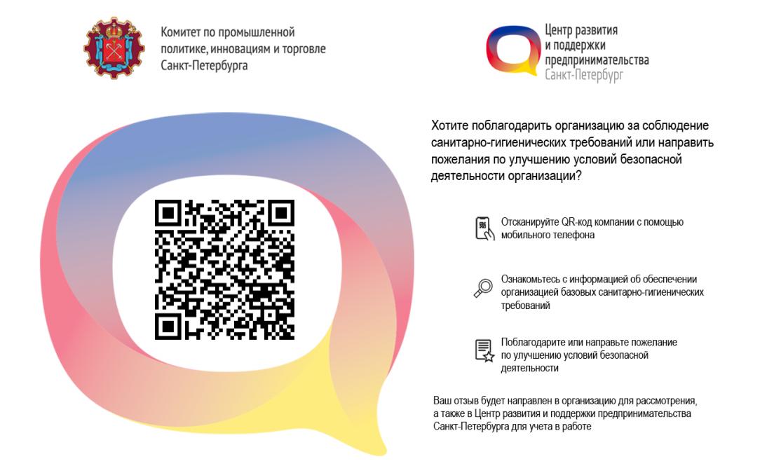 Наличие QR-кода подтверждает соответствие Стандартам безопасной деятельности организации
